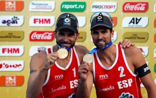 VOLEY PLAYA - La pareja española que forman Pablo Herrera y Adrián Gavira consiguió la medalla de oro en el Grand Slam de Moscú