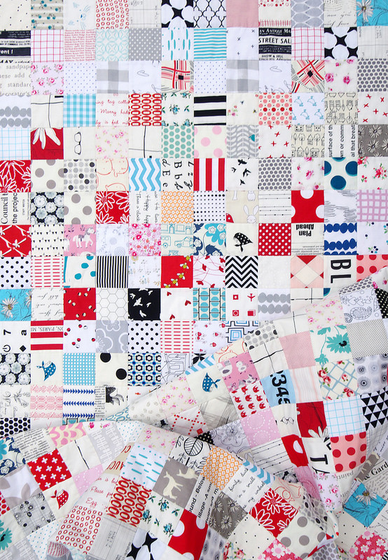 2016 Stash Buster Checkerboard Quilt | Red Pepper Quilts
