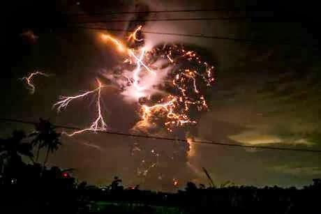 Foto letusan Gunung Kelud (Detik.com)