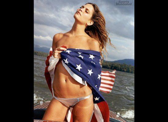 Frankie Rayder Wearing American Flag Bikini