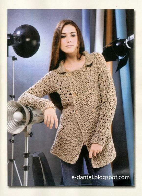 Tunik Tarzı Örgü Hırka Modellleri