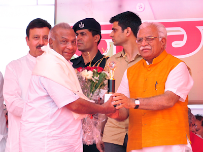 Haryana CM Felicitates ITM University Faculty