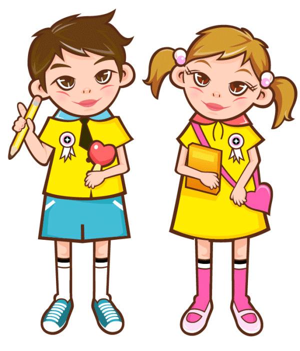 alumno y aluma del colegio