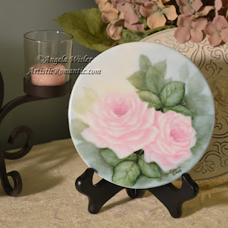 Start to Finish Hand Painting Pink Roses on Porcelain/China