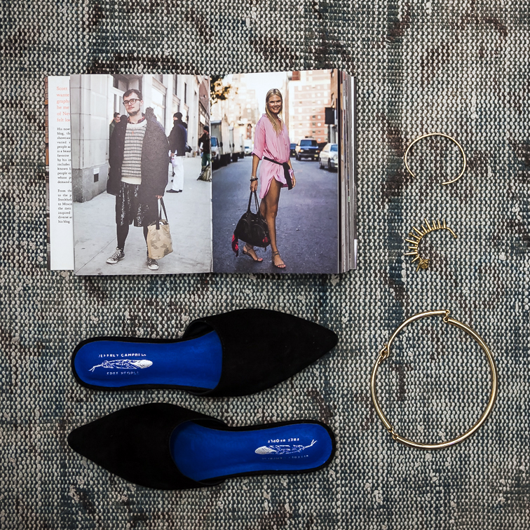 Fashion Over Reason favorite things, Jeffrey Campbell mules, the Sartorialist book, Coordinates Collection cuff, Verameat ear cuff, JCrew gold choker