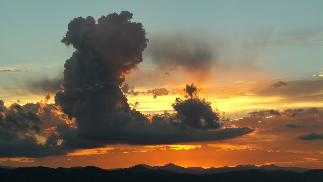 Cumulus over a sunset