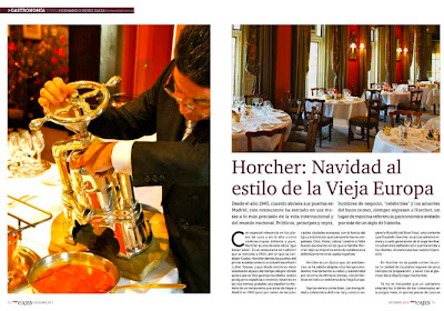 Restaurante Horcher. Revista Top Viajes