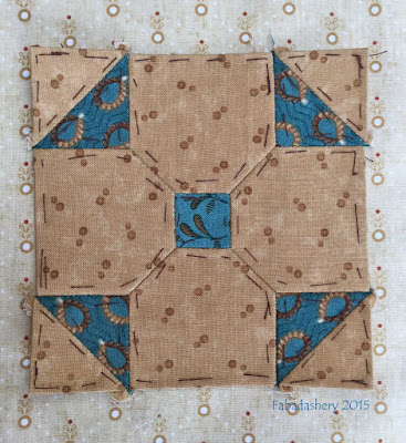 Dear Jane Quilt - Block B9 Tinker Toy