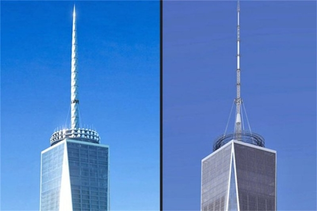 Rendering of redesigned antenna on One World Trade Center by Skidmore, Owings & Merrill LLP (SOM)