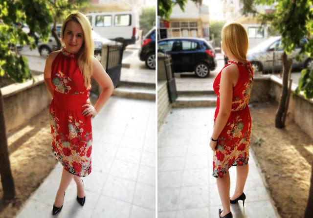 büzgülü yazlık elbise kolay dikiş