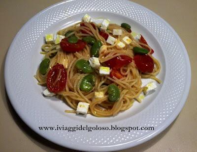 fave feta & spaghetti