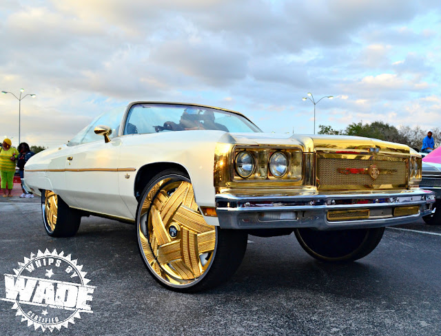 """All Gold Everythingggg ! Donk on GOLD 28"""" Dubs"""