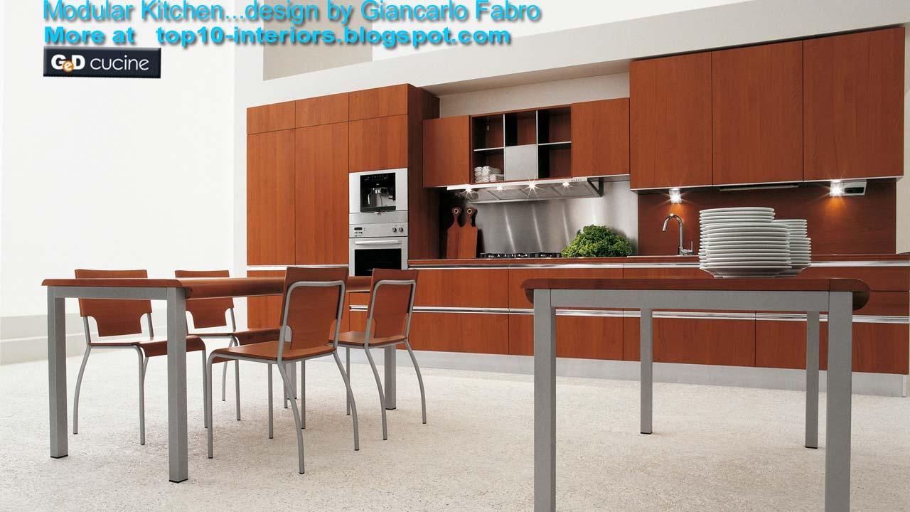 top 10 interiors: Top10 Modular Kitchen PART6 (10photos)