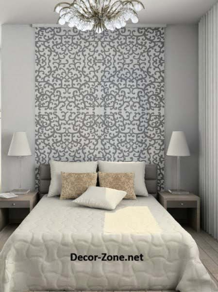 Bed headboards ideas to make a diy headboard with wallpaper for Queen headboard ideas