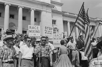 Racist pro-segregation protesters