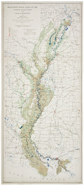 1927 Mississippi Flood map