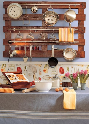 soporte para los cacharros en la cocina