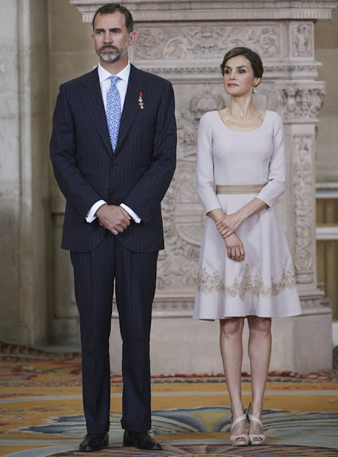 Spanish Royals deliver 'Order of the Civil Merit' awards. King Felipe VI of Spain and Queen Letizia