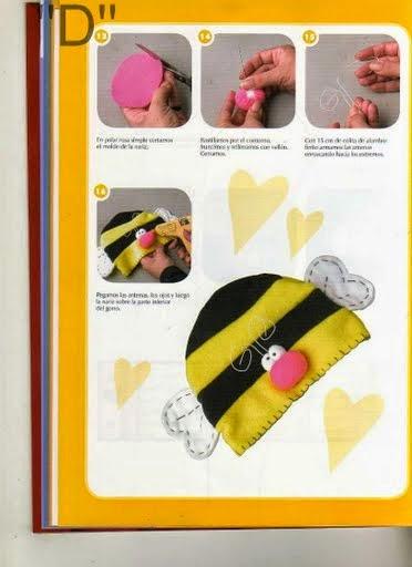 Moldes toquinha de abelha para bebês