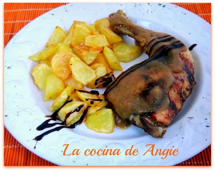 La cocina de angie pollo asado con salsa de manzana - Salsa para pollos asados ...