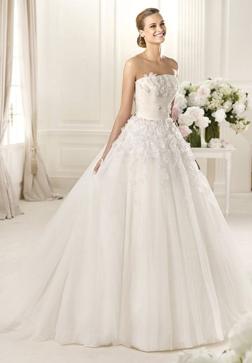 tulle princess ball gowns spring bridal fashion week