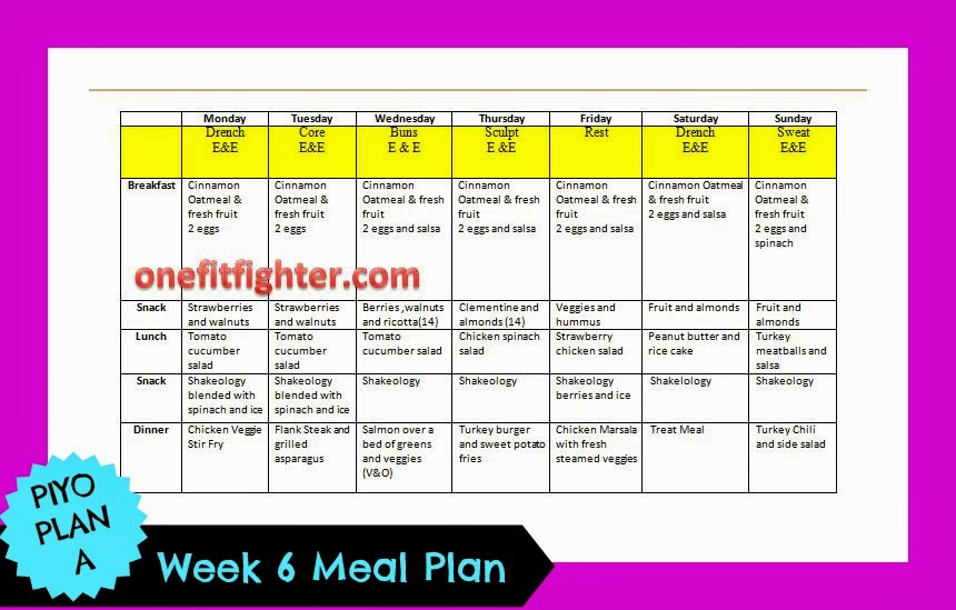 piyo meal plan, clea eating meal plan