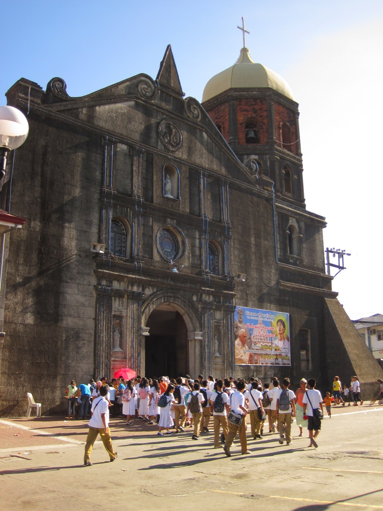 Present-day Filipino youth were gathering to meet their fellow teenager; the newly canonized 17-year-old  St Pedro Calungsod. (Photo by Bernard Eirrol Tugade)