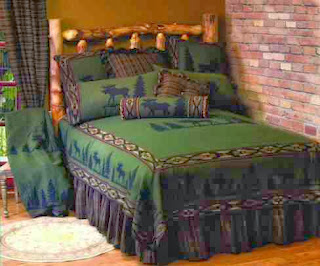 hunter-green-cabin-bedding
