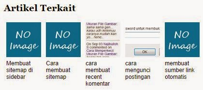 cara membuat artikel terkait disertai gambar - Multi Blog