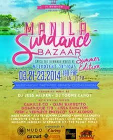 See you at The Manila Sundance Bazaar on March 21-23!!!
