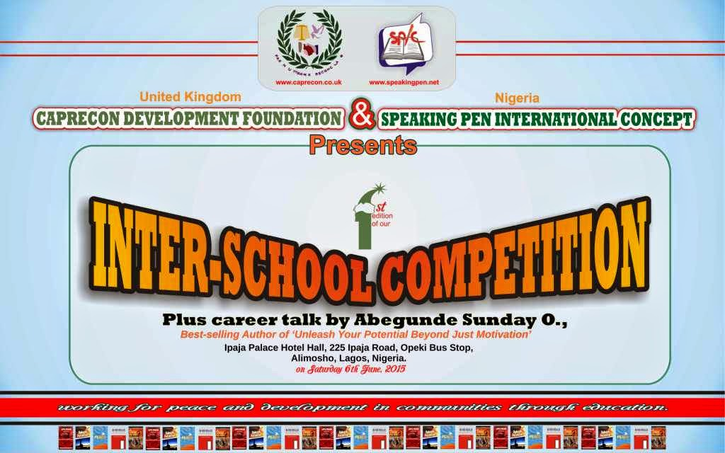 Speaking pen intl concept inter school competition in nigeria this letter is a call to your school to participate in an inter school competition organised by speaking pen international concept nigeria in conjunction spiritdancerdesigns Images