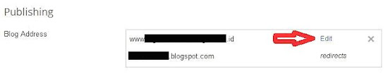 edit nama domain baru di blogspot