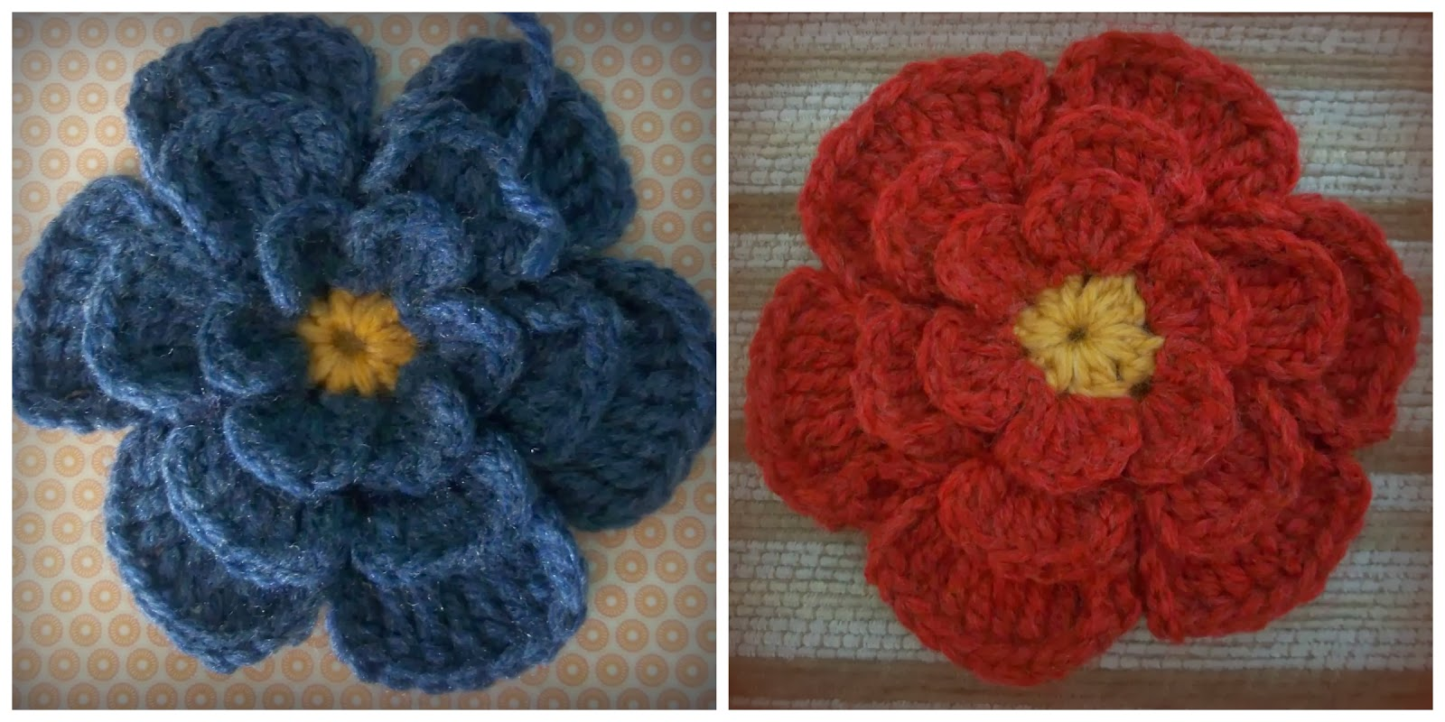 Medium Crochet Flower Pattern : Zooty Owls Crafty Blog: Big Flower Crochet Brooch: Pattern