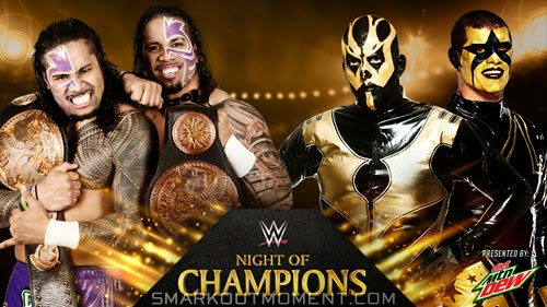 Night of Champions 2014 Matches Tag Team Titles Stardust & Goldust vs Usos