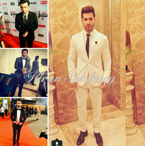 Men at Filmfare awards 2015