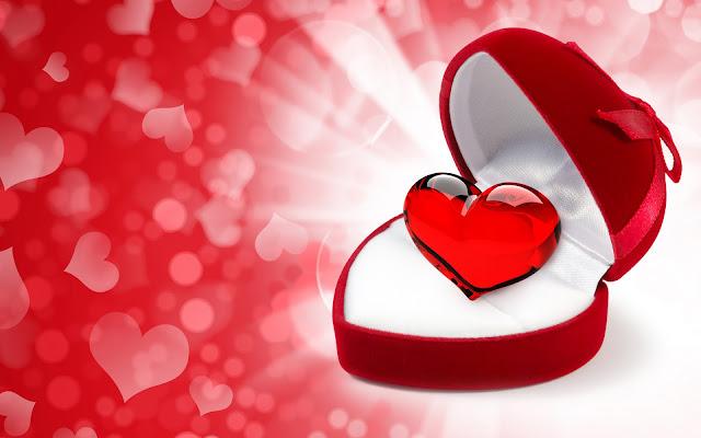 Liefdes hartje in een doosje