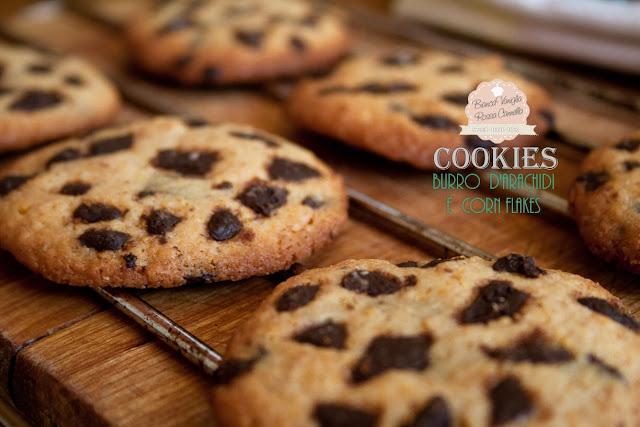 cookies burro d'arachidi e corn flakes