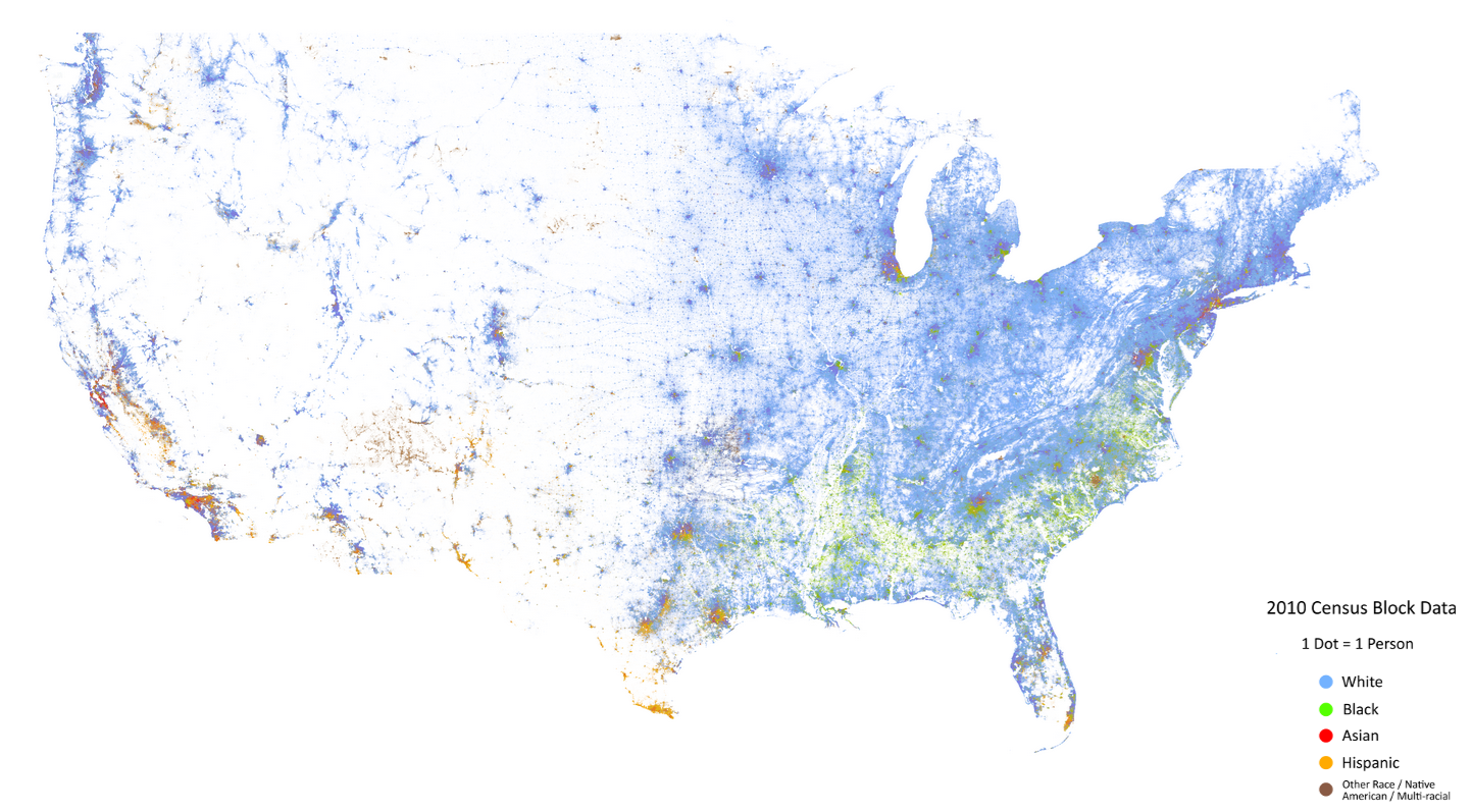 Pergelator The Racial Dot Map