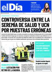 15/07/2020  CHILE  UNA  PRIMERA PÁGINA DE LA PRENSA