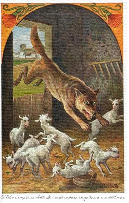 Pisando barro soando palabras El lobo y las siete cabritillas