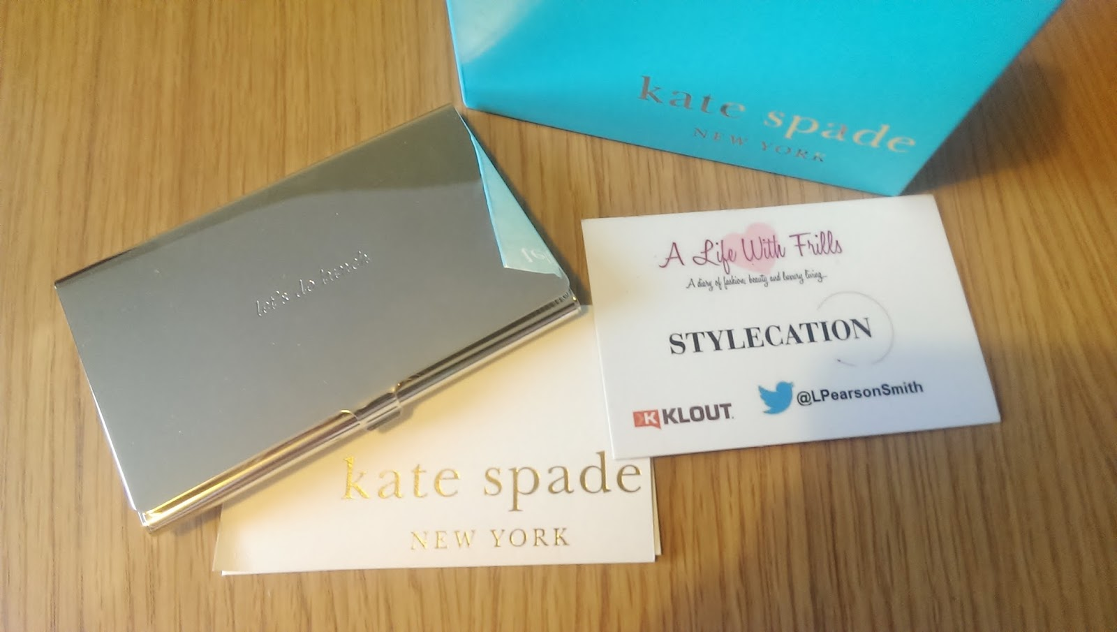 Kate Spade Lets Do Lunch Business Card Holder