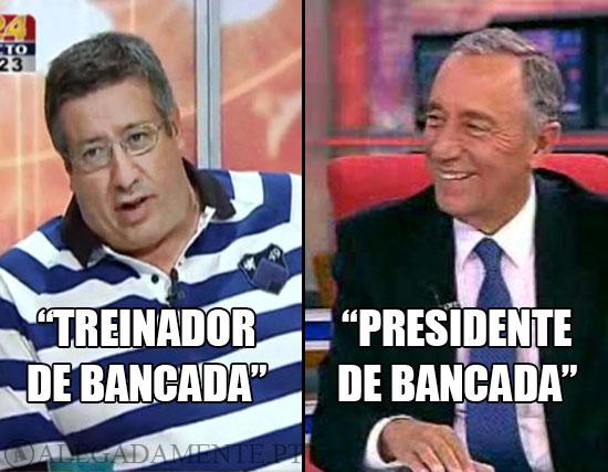 Imagem de Fernando Serrão e Marcelo Rebelo de Sousa - Treinado de Bancada e Presidente de Bancada