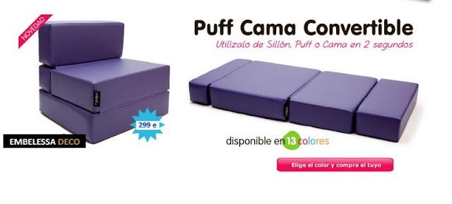 Embelessa deco store 07 ago 2011 - Puff convertible cama ...