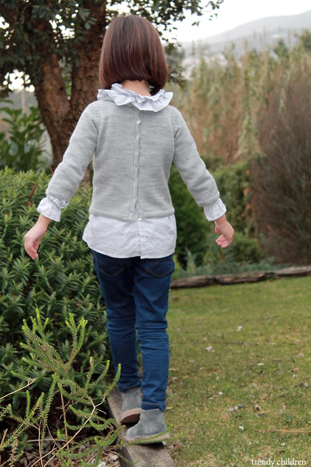 jersey gris abierto espalda botones concha valivia kids street style