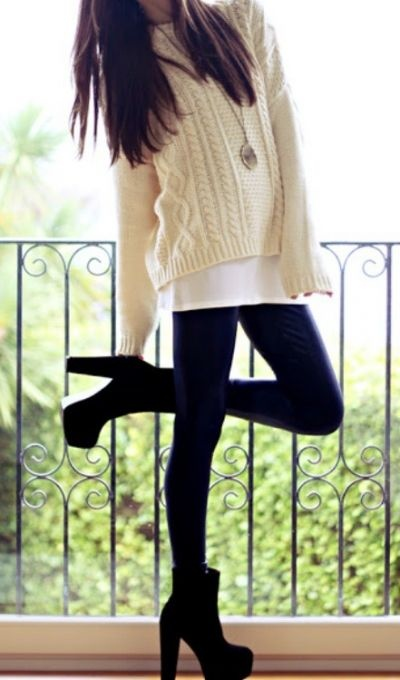 Fashion Chronicles!: Tips on how to wear Leggings