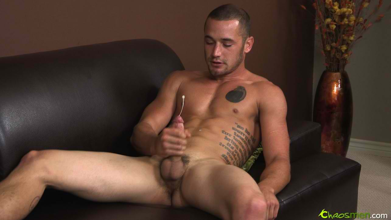 Bisexual cock jerking off