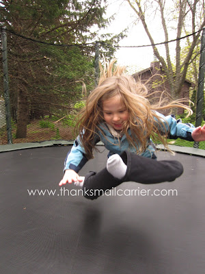 outdoor trampoline jumps
