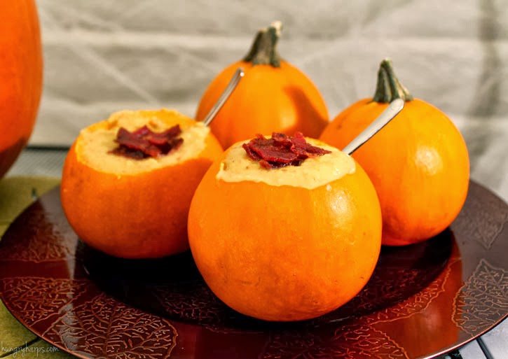 Pumpkin Soup with Beef Bacon & Cheese and a Party Plan for Halloween Night #FreshFinds