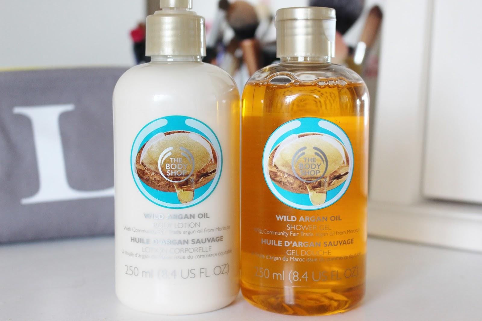 The Body Shop Wild Argan Oil Shower Gel & Body Lotion - Lottie Pearce