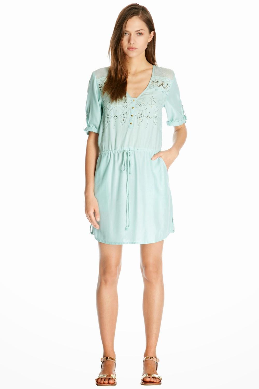 mint green crochet dress